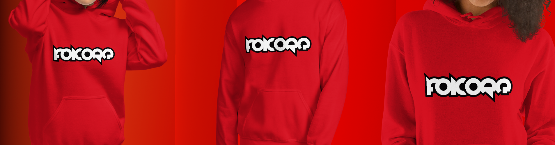 Banner Hoodie Red Logo Border